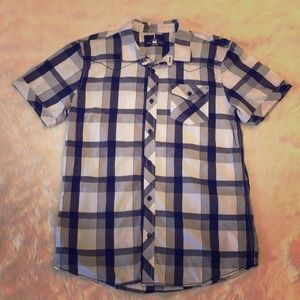 I Jeans By Buffalo Short Sleeve Plaid Button Up